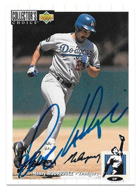 Henry Rodriguez Signed 1994 Collector's Choice Silver Signature Baseball Card - Los Angeles Dodgers