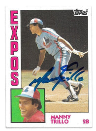 Manny Trillo Signed 1984 Topps Baseball Card - Montreal Expos - PastPros