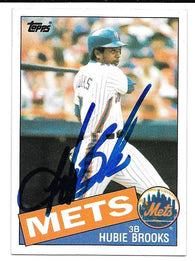 Hubie Brooks Signed 1985 Topps Baseball Card - New York Mets