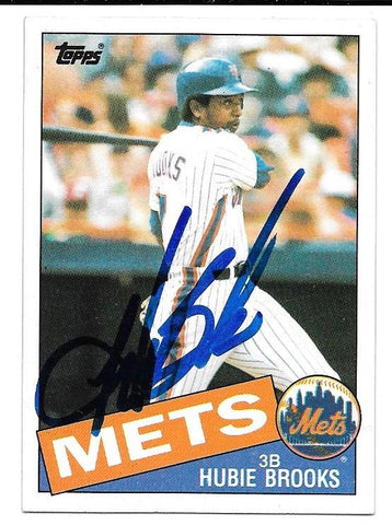 Hubie Brooks Signed 1985 Topps Baseball Card - New York Mets - PastPros
