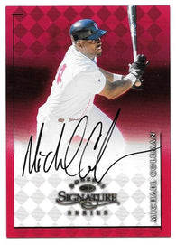 Michael Coleman Signed 1999 Donruss Signature Series Baseball Card - Boston Red Sox - PastPros