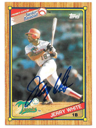 Jerry White Signed 1989 Topps Senior League Baseball Card - West Palm Beach Tropics