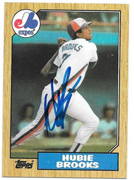 Hubie Brooks Signed 1987 Topps Baseball Card - Montreal Expos