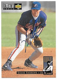 Shane Andrews Signed 1994 Collector's Choice Baseball Card - Montreal Expos