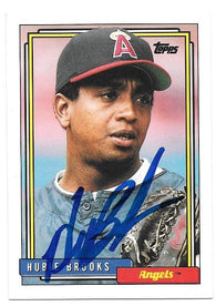 Hubie Brooks Signed 1992 Topps Baseball Card - California Angels