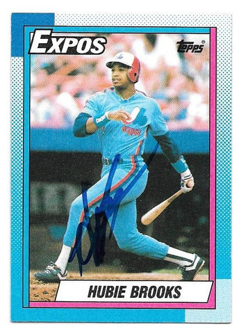 Hubie Brooks Signed 1990 Topps Baseball Card - Montreal Expos - PastPros
