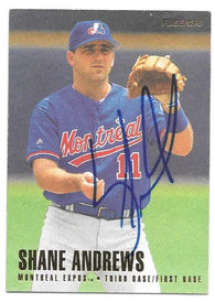 Shane Andrews Signed 1996 Fleer Baseball Card -  Montreal Expos - PastPros