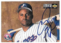 Cliff Floyd Signed 1994 Collector's Choice Baseball Card - Montreal Expos