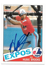 Hubie Brooks Signed 1985 Topps Baseball Card - Montreal Expos