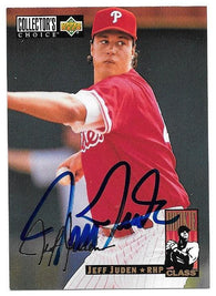 Jeff Juden Signed 1994 Collector's Choice Silver Signature Baseball Card - Philadelphia Phillies
