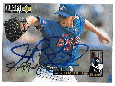 Joey Eischen Signed 1994 Collector's Choice Silver Signature Baseball Card - Montreal Expos