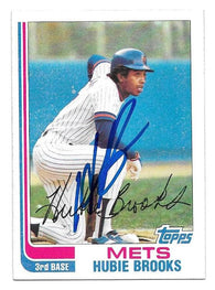 Hubie Brooks Signed 1982 Topps Baseball Card - New York Mets