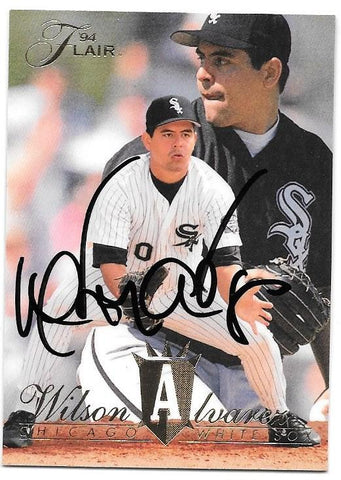 Wilson Alvarez Signed 1994 Flair Baseball Card - Chicago White Sox - PastPros