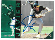Stan Javier Signed 1994 Select Baseball Card - Oakland A's