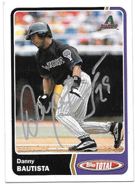 Danny Bautista Signed 2003 Topps Total Baseball Card - Arizona Diamondbacks - PastPros