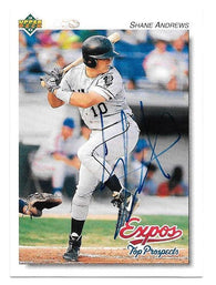 Shane Andrews Signed 1992 Upper Deck Minors Baseball Card - Montreal Expos