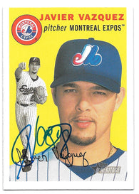 Javier Vazquez Signed 2003 Topps Heritage Baseball Card - Montreal Expos