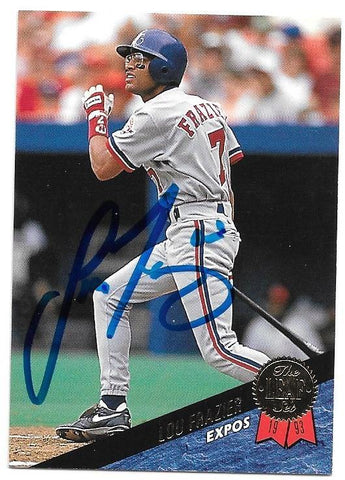 Lou Frazier Signed 1993 Leaf Baseball Card - Montreal Expos
