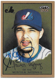 Javier Vazquez Signed 2003 Topps 205 Baseball Card - Montreal Expos