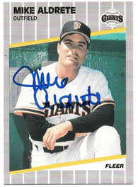Mike Aldrete Signed 1989 Fleer Baseball Card - San Francisco Giants