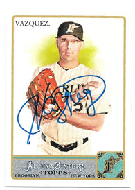 Javier Vazquez Signed 2011 Allen & Ginter Baseball Card - Florida Marlins