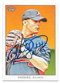 Javier Vazquez Signed 2009 Topps 206 Baseball Card - Atlanta Braves