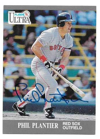 Phil Plantier Signed 1991 Fleer Ultra Baseball Card - Boston Red Sox - PastPros