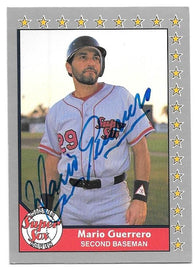 Mario Guerrero Signed 1991 Pacific Senior Baseball Card - Winter Haven Super Sox - PastPros