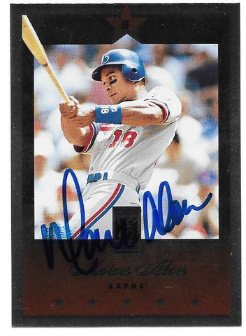 Moises Alou Signed 1997 Donruss Elite Baseball Card - Montreal Expos