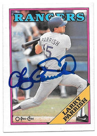 Larry Parrish Signed 1988 O-Pee-Chee Baseball Card - Texas Rangers