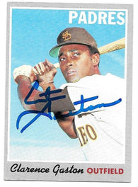 Cito Gaston Signed 1970 Topps Baseball Card - San Diego Padres