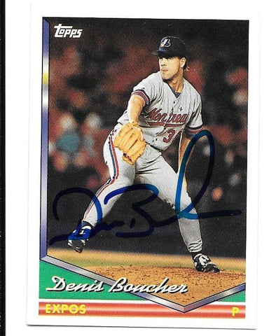 Denis Boucher Signed 1994 Topps Baseball Card - Montreal Expos