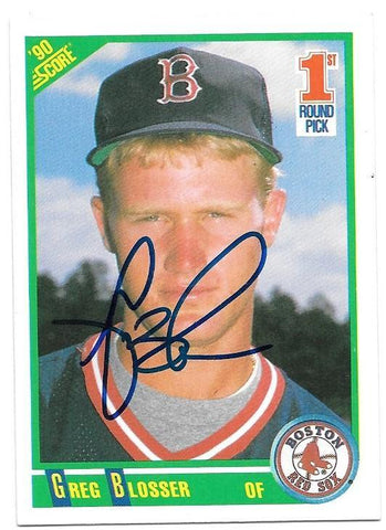 Greg Blosser Signed 1990 Score Baseball Card - Boston Red Sox