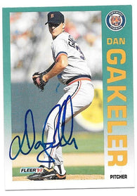 Dan Gakeler Signed 1992 Fleer Baseball Card - Detroit Tigers