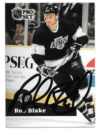 Rob Blake Signed 1991-92 Pro Set Hockey Card - Los Angeles Kings