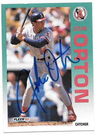 John Orton Signed 1992 Fleer Baseball Card - California Angels