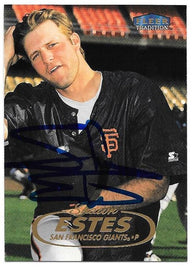 Shawn Estes Signed 1998 Fleer Tradition Baseball Card - San Francisco Giants
