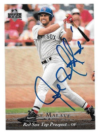 Jose Malave Signed 1995 Upper Deck Minors Baseball Card - Boston Red Sox