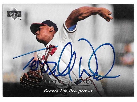 Terrell Wade Signed 1995 Upper Deck Minors Baseball Card - Atlanta Braves