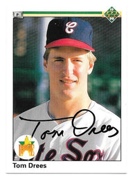 Tom Drees Signed 1990 Upper Deck Baseball Card - Chicago White Sox