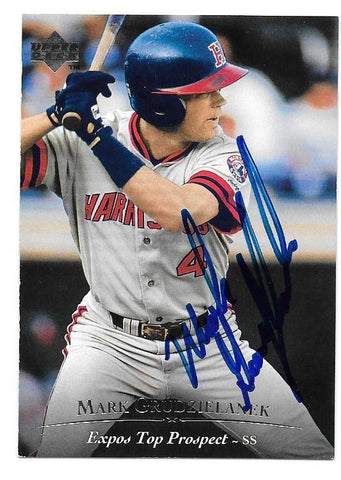 Mark Grudzielanek Signed 1995 Upper Deck Minors Baseball Card - Montreal Expos