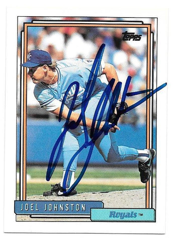 Joel Johnston Signed 1992 Topps Baseball Card - Kansas City Royals