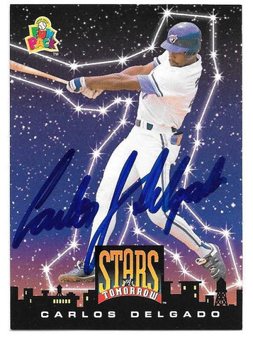 Carlos Delgado Signed 1994 Upper Deck Fun Baseball Card - Toronto Blue Jays