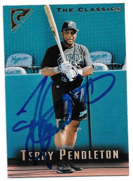 Terry Pendleton Signed 1996 Topps Gallery Baseball Card - Florida Marlins