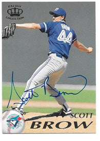 Scott Brow Signed 1995 Pacific Baseball Card - Toronto Blue Jays