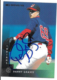 Danny Graves Signed 1997 Donruss Baseball Card - Cleveland Indians