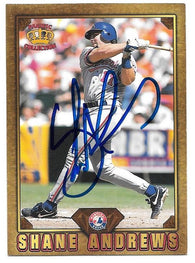 Shane Andrews Signed 1997 Pacific Prisms - Gems of the Diamond Baseball Card - Montreal Expos