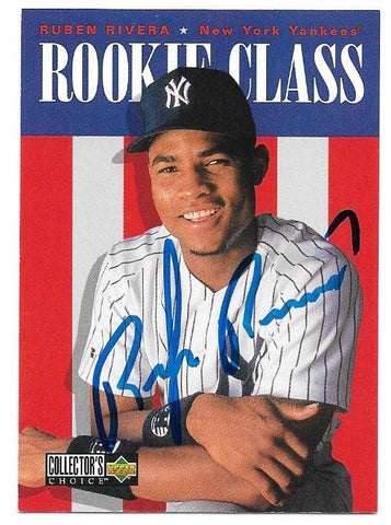Ruben Rivera Signed 1996 Collector's Choice Baseball Card - New York Yankees