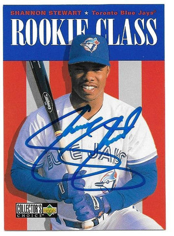 Shannon Stewart Signed 1996 Collector's Choice Baseball Card - Toronto Blue Jays