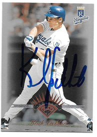 Keith Lockhart Signed 1997 Leaf Baseball Card - Kansas City Royals